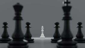 Schwarzweiss-Schach Lizenzfreie Stockfotos