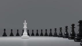 Schwarzweiss-Schach Lizenzfreie Stockbilder