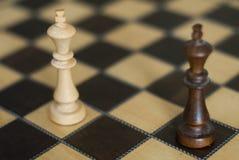 Schwarzweiss-Schachkönige lizenzfreie stockbilder