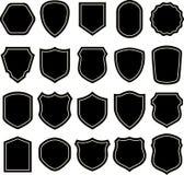 Schwarzweiss-Schildschattenbild Stockbilder