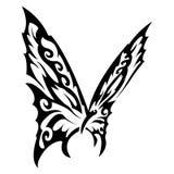 Schwarzweiss-Schmetterling Stockbild