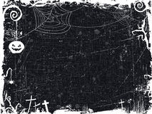 Schwarzweiss-Schmutz Halloween-Rahmen Lizenzfreie Stockfotografie