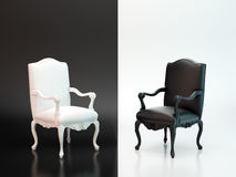 Schwarzweiss-Stühle Stockfotografie