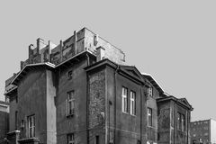 Schwarzweiss-Stadtbild Stockbilder