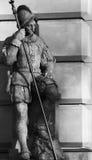 Schwarzweiss-Statue lizenzfreies stockbild