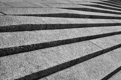 Schwarzweiss-Steinschritte Stockfotografie