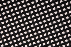 Schwarzweiss-Stoff mit stockinet Beschaffenheit Stockfotografie