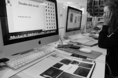 Schwarzweiss-Studio stockfoto