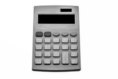 Schwarzweiss-Taschenrechner auf weißem Hintergrund Stockbild