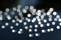 Schwarzweiss-Tautropfen bokeh Hintergrund Stockfotos