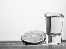 Schwarzweiss-Tequila Stockbild