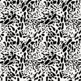 Schwarzweiss-Tierhaut-nachgemachtes nahtloses Muster stock abbildung