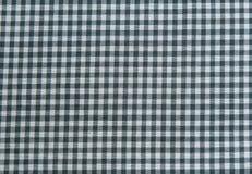 Schwarzweiss-Tischdeckenhintergrund, Plaidgewebe Lizenzfreies Stockfoto