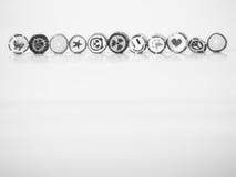 Schwarzweiss-Ton Sie können smileygesichts-Zuckerstange finden Stockfotos
