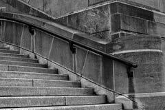 Schwarzweiss-Treppe Stockbild