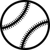 Schwarzweiss-Vektor der flachen Tennis-/Baseballballikone Vektor Abbildung