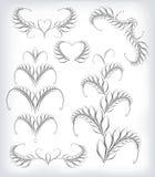 Schwarzweiss-Vektor Setalos Muster Stockbilder