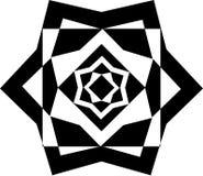 Schwarzweiss-Vektorbild- und Wiederholungsmusterdesign Stockbild