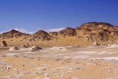 Schwarzweiss-Wüste Lizenzfreie Stockfotos