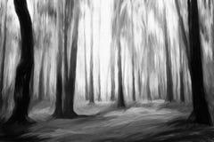 Schwarzweiss-Wald stock abbildung