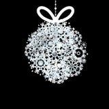 Schwarzweiss-Weihnachtsball. + EPS10 Stockfotografie