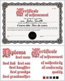 Schwarzweiss-Zertifikat schablone Guilloche horizontal Stockfoto