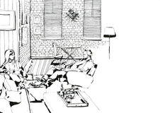Schwarzweiss zu Hause glätten Lizenzfreie Stockfotografie
