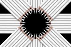 Schwarzweiss-Zusammensetzung von Bleistiften Lizenzfreies Stockfoto