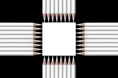 Schwarzweiss-Zusammensetzung von Bleistiften Lizenzfreie Stockbilder