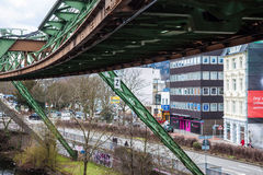 Schwebebahn floating tram stock image