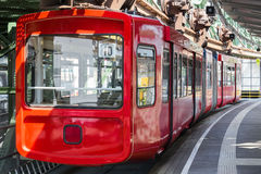 Schwebebahn train in wuppertal germany Stock Photo