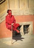 Schwebender meditierender jogowie - fakir fotografia stock