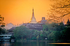 Schwedago Pagoda- Burma (Myanmar) Stock Image