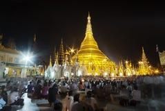 Schwedagon Pagoda Arkivbild