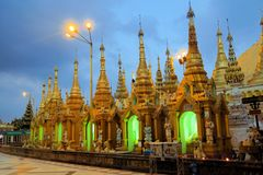Schwedagon Pagoda, most important Buddhist temple Stock Image