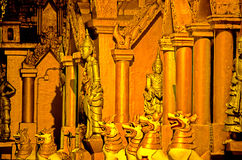 Schwedagon Pagoda- Rangoon, Burma (Myanmar) Royalty Free Stock Images