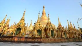 Schwedagon Pagoda, Yangon, Myanmar stock video footage