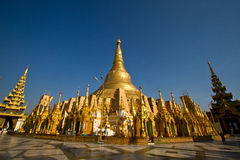 Schwedagon Paya. In Yangon Myammar royalty free stock photo