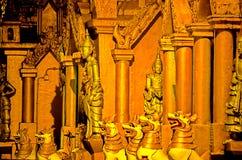schwedagon rangoon pagoda Бирмы myanmar стоковые изображения rf