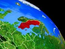 Schweden auf Planet Erde lizenzfreie abbildung