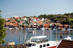 Schweden-Boot auf dem See Lizenzfreie Stockfotos