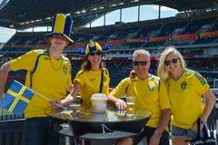 Schweden-Fans Lizenzfreie Stockbilder