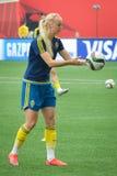 Schweden gegen Nigeria-Nationalmannschaften Weltcup FIFAS Women's stockbilder