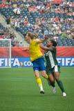 Schweden gegen Nigeria-Nationalmannschaften Weltcup FIFAS Women's lizenzfreie stockbilder