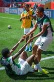 Schweden gegen Nigeria-Nationalmannschaften Weltcup FIFAS Women's lizenzfreies stockbild