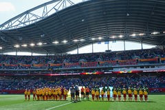 Schweden gegen Nigeria-Nationalmannschaften Weltcup FIFAS Women's stockfotos