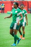 Schweden gegen Nigeria-Nationalmannschaften Weltcup FIFAS Women's Lizenzfreie Stockfotos