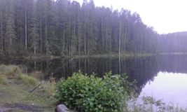 Schweden-Himmeleinbruch der nacht stockfoto