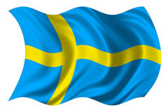 Schweden-Markierungsfahne getrennt Lizenzfreies Stockbild