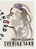 SCHWEDEN - 2015: Shows Ingrid Bergman 1915-1982, Schauspielerin Stockfotografie